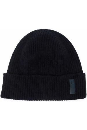 Armani Herren Hüte - Kaschmirmütze mit Logo-Patch