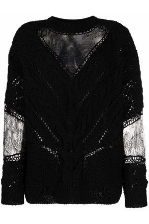 ALMAZ Pullover mit Spitzeneinsätzen