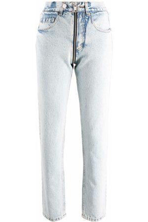 Almaz Ausgeblichene Straight-Leg-Jeans