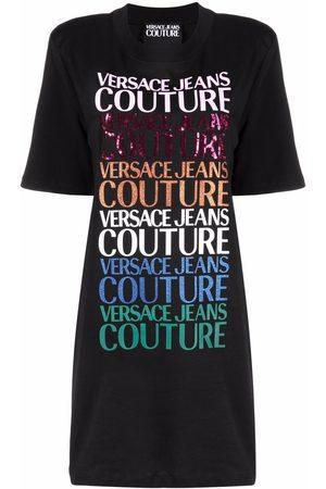 VERSACE T-Shirtkleid mit Logo-Print