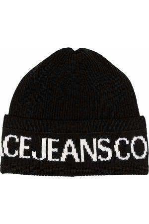 Versace Jeans Couture Mütze mit Intarsien-Strickmuster