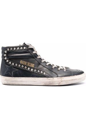 Golden Goose Slide Classic High-Top-Sneakers im Used-Look