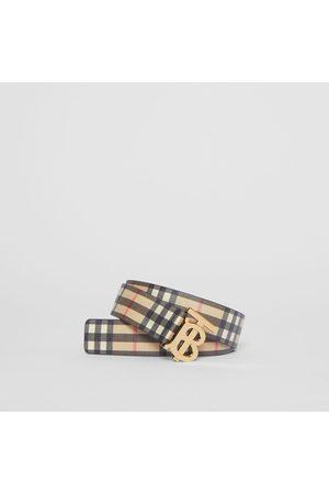 Burberry Damen Gürtel - Gürtel aus Eco-Canvas im Vintage Check-Design mit Monogrammmotiv