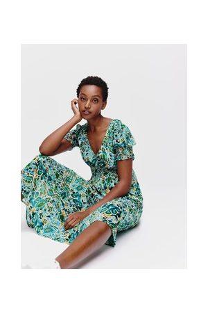 Promod Damen Bedruckte Kleider - Langes Print-Kleid für Damen