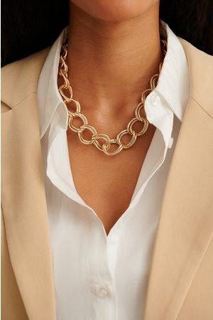 NA-KD Recycelte Halskette Mit Doppeltem Ring - Gold