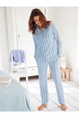 Avena Damen Pyjama gestreift