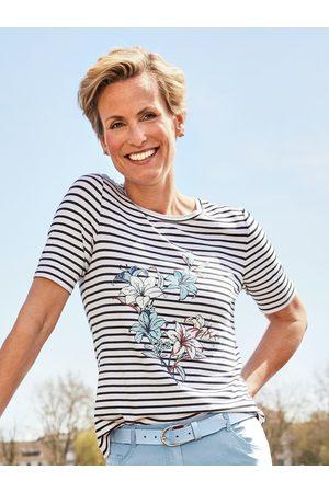 Avena Damen Poloshirts - Damen Streifenshirt Lilie