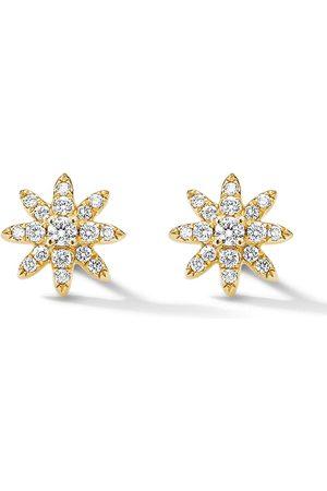 David Yurman 18kt Gelbgoldohrringe mit Diamanten