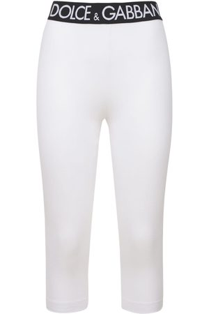 Dolce & Gabbana Damen Leggings & Treggings - Mittellange Leggings Aus Techno/baumwolljersey