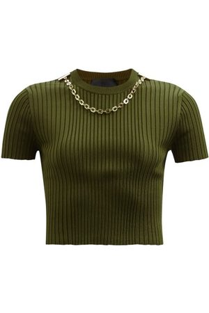 Givenchy Chain Ribbed-jersey Cropped Top