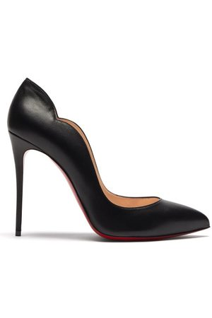 Christian Louboutin Hot Chick 100 Scalloped Leather Pumps