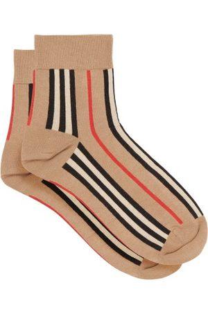 Burberry Icon-stripe Cotton-blend Socks