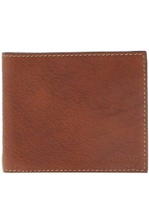 Brunello Cucinelli Logo-debossed Grained-leather Bi-fold Wallet