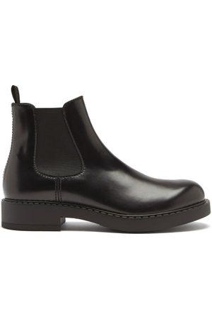 Prada Round-toe Leather Chelsea Boots
