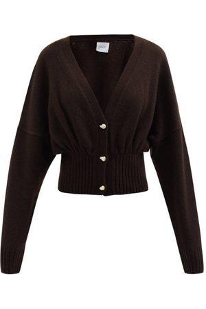 Galvan Luna Pearl-embellished Wool-blend Cardigan