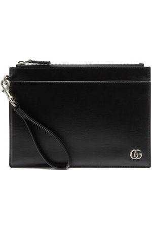 Gucci Gg Zipped Leather Cardholder Pouch