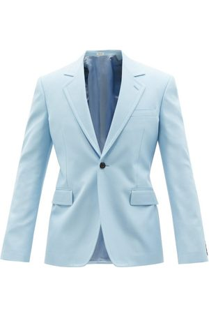 Alexander McQueen Single-breasted Panama-cotton Suit Jacket