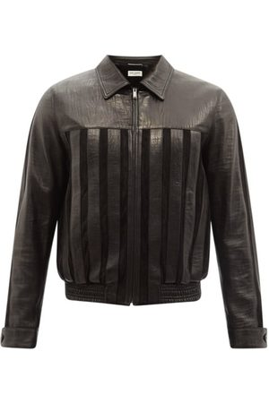 Saint Laurent Striped Leather Jacket