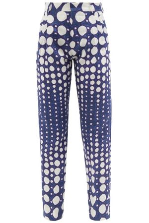Charles Jeffrey LOVERBOY Graphic Polka-dot Print Slim-leg Linen Trousers