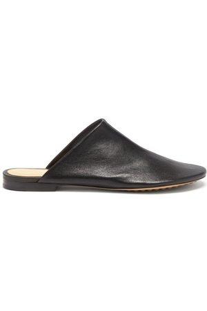 Bottega Veneta Dot Sock Backless Leather Loafers