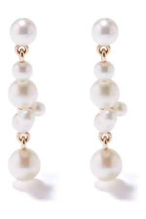 SOPHIE BILLE BRAHE Damen Ohrringe - Holly Splash Pearl & 14kt Earrings