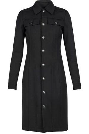 Bottega Veneta Patch-pocket Buttoned Wool-blend Twill Shirt Dress