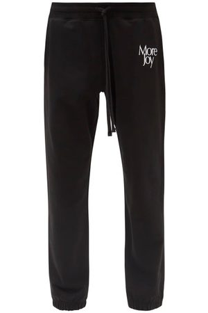 More Joy by Christopher Kane More Joy-embroidered Cotton Track Pants