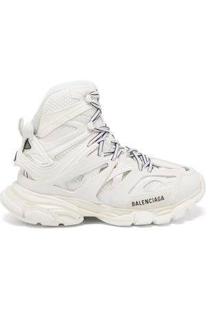 Balenciaga Track Hike Panelled Faux-leather High-top Trainers