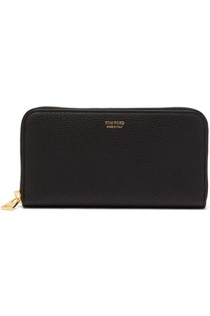 Tom Ford Zipped Grained-leather Continental Wallet