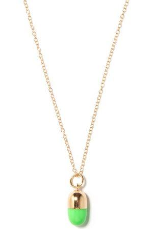 Alison Lou Pill 14kt Necklace