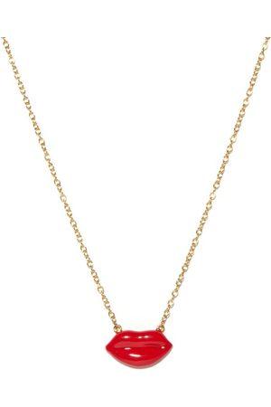 Alison Lou Lips-charm 14kt Necklace