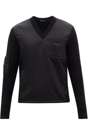 Prada Triangle Logo-plaque Wool & Recycled-nylon Sweater