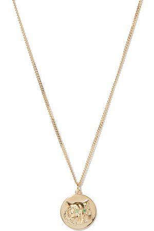 Miansai Tiger's Eye Emerald & -vermeil Necklace