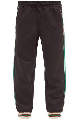 Gucci Web-stripe Gg-jacquard Jersey Track Pants