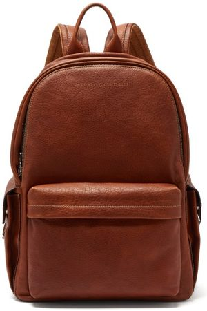 Brunello Cucinelli Grained Leather Backpack