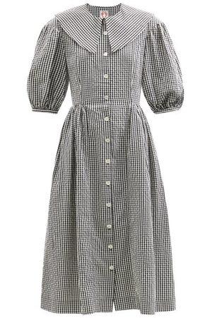 Shrimps Olivia Cotton-gingham Shirt Dress