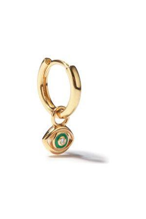 Alison Lou Evil Eye Diamond & 14kt Single Earring