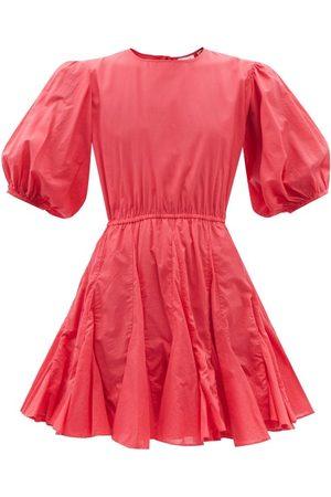 RHODE Molly Cutout-back Cotton-poplin Dress