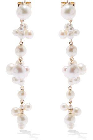 SOPHIE BILLE BRAHE Celie Pearl & 14kt Drop Earrings