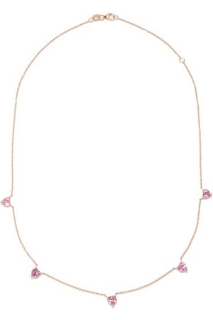 Shay Heart Sapphire & 18kt Rose- Necklace
