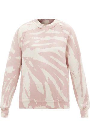 Les Tien High-neck Tie-dye Brushed-back Cotton Sweatshirt