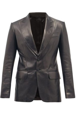 Tom Ford Single-breasted Plongé-leather Blazer