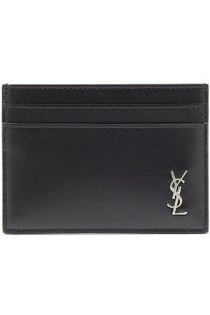 Saint Laurent Ysl-plaque Smooth-leather Cardholder
