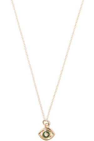 Alison Lou Evil Eye Diamond & 14kt Necklace