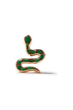 Alison Lou Snake Enamel & 14kt Single Earring