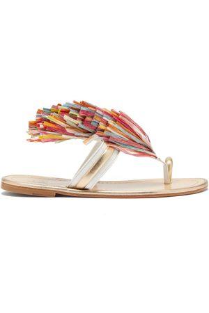Christian Louboutin Festividade Tasselled Leather Sandals