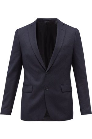 Officine Générale 375 Single-breasted Pinstriped Wool Suit Jacket