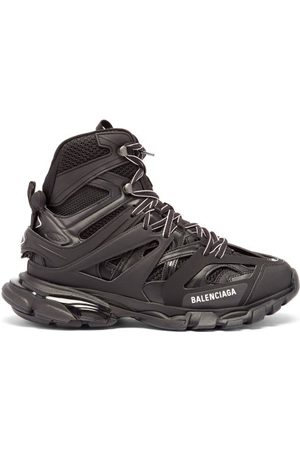 Balenciaga Track Hike Panelled Faux-leather Boots