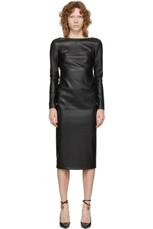Tom Ford Black Vegan Open Back Zip Dress
