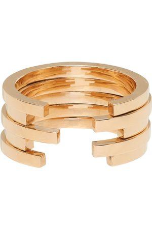 Annette Welander Gold Sequential 5 Arc Ring